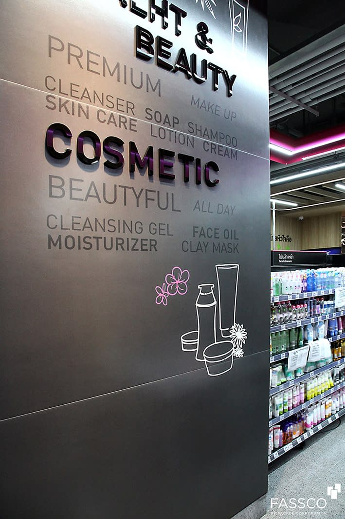 Fibrecement Supermarket Wall Covering Printed