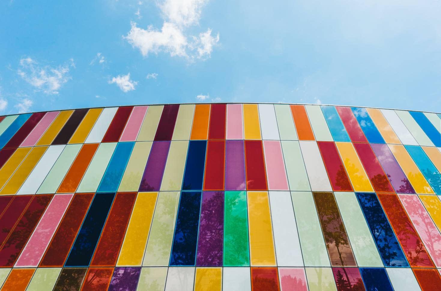 colourful facade cladding by fassco