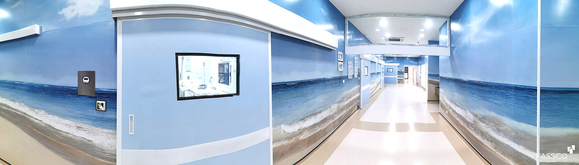 Fibrecement Wall Covering Hospital Decoration
